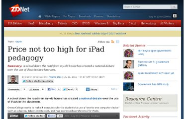 http://www.zdnet.com/price-not-too-high-for-ipad-pedagogy-1339319015/