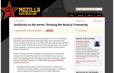https://hacks.mozilla.org/2012/01/javascript-on-the-server-growing-the-node-js-community/