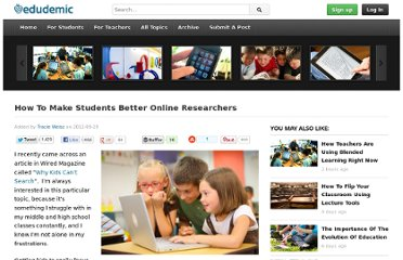 http://edudemic.com/2012/09/students-online-researchers/