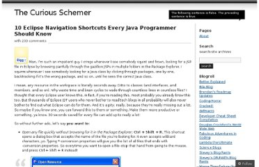 http://rayfd.me/2007/05/20/10-eclipse-navigation-shortcuts-every-java-programmer-should-know/