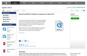 http://store.apple.com/us/product/D2187Z/A/quicktime-mpeg-2-playback-component-for-mac-os-x#overview