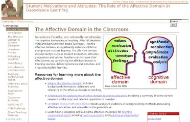 http://serc.carleton.edu/NAGTWorkshops/affective/index.html