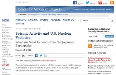 http://www.americanprogress.org/issues/security/news/2011/03/14/9302/seismic-activity-and-u-s-nuclear-facilities/