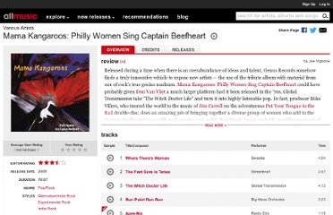 http://www.allmusic.com/album/mama-kangaroos-philly-women-sing-captain-beefheart-mw0000187716