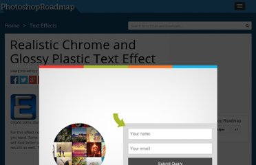 http://www.photoshoproadmap.com/Photoshop-blog/realistic-chrome-and-glossy-plastic-text-effect/