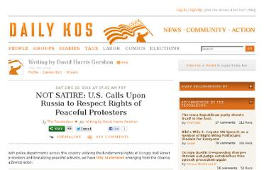 http://www.dailykos.com/story/2011/12/10/1043961/-NOT-SATIRE-U-S-Calls-Upon-Russia-to-Respect-Rights-of-Peaceful-Protesters