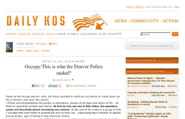 http://www.dailykos.com/story/2011/10/29/1031371/-Occupy-This-is-who-the-Denver-Police-raided