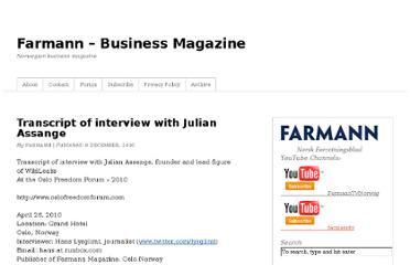 http://www.farmann.no/2010/12/09/transcript-of-interview-with-julian-assange/