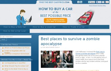 http://www.findthebestcarprice.com/best-places-to-survive-a-zombie-apocalypse/