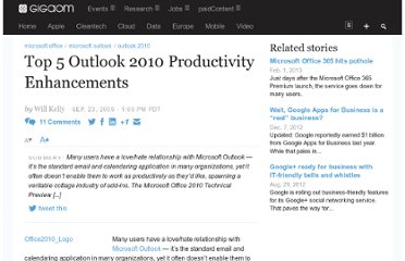 http://gigaom.com/2009/09/23/5-outlook-2010-productivity-enhancements/