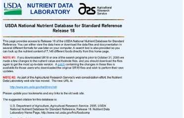 http://www.nal.usda.gov/fnic/foodcomp/Data/SR18/sr18.html