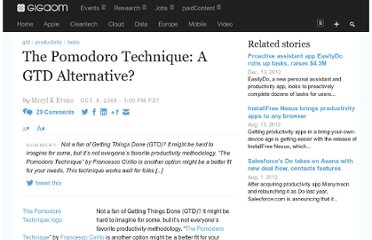 http://gigaom.com/2009/10/08/the-pomodoro-technique-another-option-for-getting-things-done-and-staying-focused/