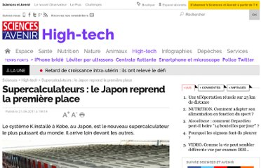 http://sciencesetavenir.nouvelobs.com/high-tech/20110621.OBS5614/supercalculateurs-le-japon-reprend-la-premiere-place.html