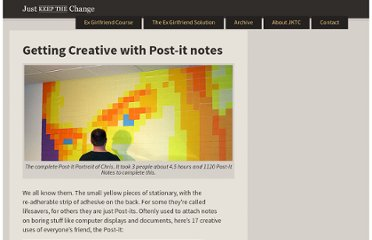 http://www.justkeepthechange.com/getting-creative-with-post-it-notes/