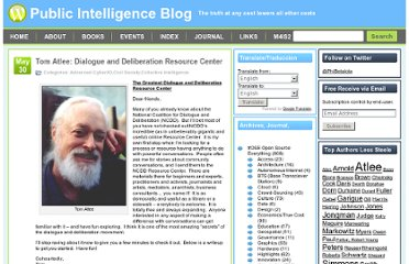 http://www.phibetaiota.net/2012/05/tom-atlee-dialogue-and-deliberation-resource-center/