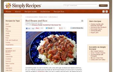 http://www.simplyrecipes.com/recipes/red_beans_and_rice/