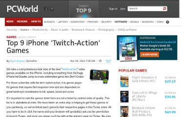 http://www.pcworld.com/article/192854/Top_9_iPhone_Twitch_Action_Games.html