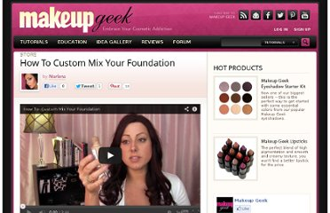 http://www.makeupgeek.com/makeup-basics/how-to-custom-mix-your-foundation/