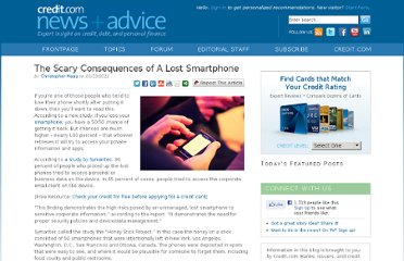 http://blog.credit.com/2012/03/the-scary-consequences-of-a-lost-smartphone/