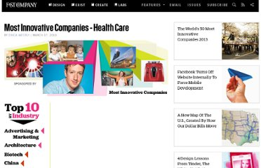 http://www.fastcompany.com/1547684/most-innovative-companies-health-care