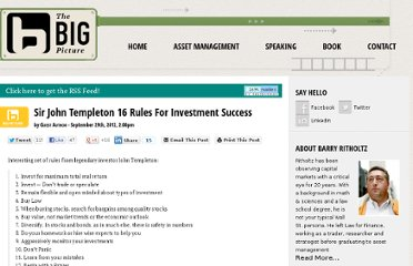 http://www.ritholtz.com/blog/2012/09/16-rules-for-investment-success/#more-84401