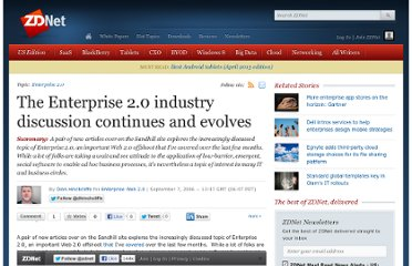 http://www.zdnet.com/blog/hinchcliffe/the-enterprise-2-0-industry-discussion-continues-and-evolves/64