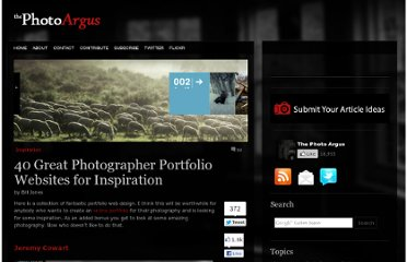 http://www.thephotoargus.com/inspiration/40-great-photographer-portfolio-websites-for-inspiration/