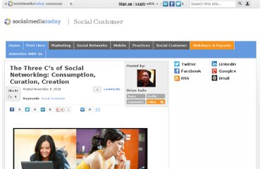 http://socialmediatoday.com/briansolis/550577/three-c-s-social-networking-consumption-curation-creation