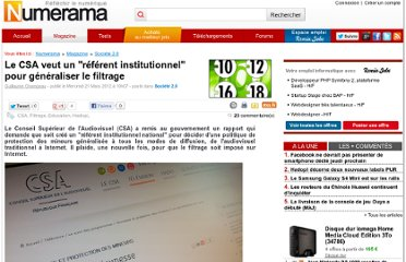 http://www.numerama.com/magazine/22084-le-csa-veut-un-referent-institutionnel-pour-generaliser-le-filtrage.html