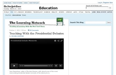 http://learning.blogs.nytimes.com/2012/10/01/teaching-with-the-presidential-debates/
