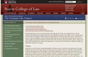 http://www.law.du.edu/index.php/the-colorado-law-project/colorado-legal-services-and-organizations#LegalAid
