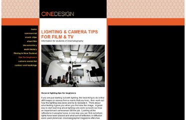 http://www.cinedesign.co.nz/tips.html