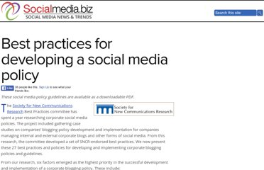 http://socialmedia.biz/social-media-policies/best-practices-for-developing-a-social-media-policy/