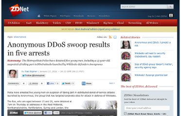 http://www.zdnet.com/anonymous-ddos-swoop-results-in-five-arrests-3040091581/