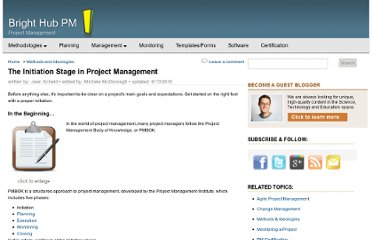 http://www.brighthubpm.com/methods-strategies/1672-the-initiation-stage-in-project-management/