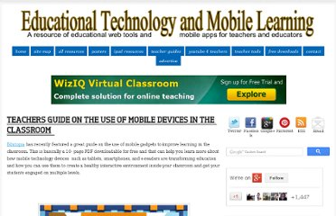 http://www.educatorstechnology.com/2012/10/teacher-guide-mobile-devices-classroom.html