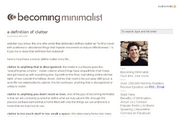 http://www.becomingminimalist.com/a-definition-of-clutter/