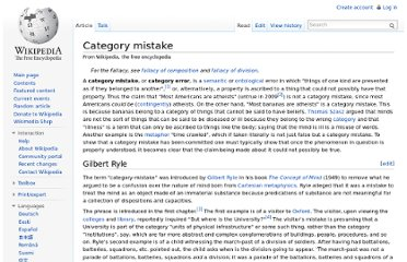http://en.wikipedia.org/wiki/Category_mistake