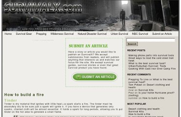 http://www.survivalx.com/wilderness-survival/fire-and-water/how-to-build-a-fire/