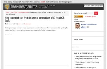 http://www.freewaregenius.com/how-to-extract-text-from-images-a-comparison-of-free-ocr-tools/