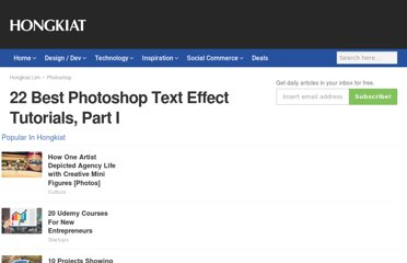 http://www.hongkiat.com/blog/22-best-photoshop-text-effect-tutorials/