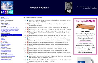 http://www.projectpegasus.net/the_annals_of_project_pegasus