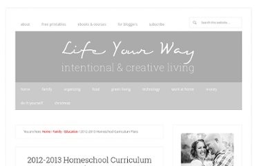 http://family.yourway.net/2012-2013-homeschool-curriculum-plans/