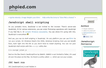 http://www.phpied.com/javascript-shell-scripting/
