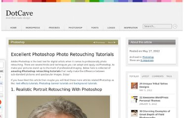 http://dotcave.com/photoshop/photoshop-photo-retouching-tutorials/