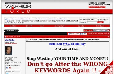 http://www.warriorforum.com/warrior-special-offers-forum/386748-2-700-sold-great-reviews-software-reveals-keywords-will-rank-fast-make-you-money.html