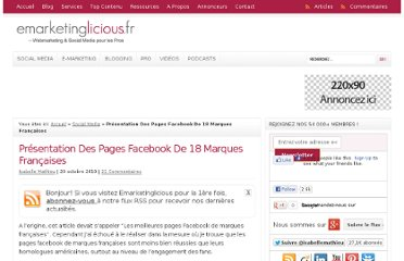 http://www.emarketinglicious.fr/social-media/presentation-des-pages-facebook-de-18-marques-francaises