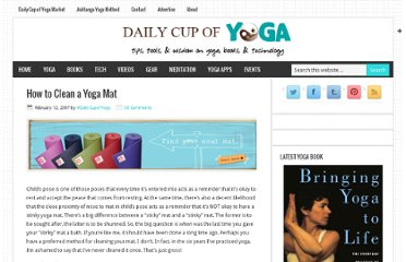 http://www.dailycupofyoga.com/2007/02/12/how-to-clean-a-yoga-mat/