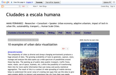 http://www.ciudadesaescalahumana.org/2011/12/10-examples-of-urban-data-visualization.html