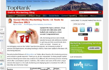 http://www.toprankblog.com/2009/01/11-best-url-shortening-services-vote-your-favorite/